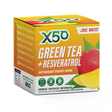 X50 GREEN TEA AND RESVERATROL MANGO, 30 Servings