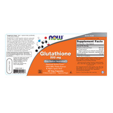 NOW Supplements, Glutathione 500 mg, 60 Veg Capsules