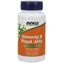 NOW Supplements, Ginseng & Royal Jelly, 90 Capsules
