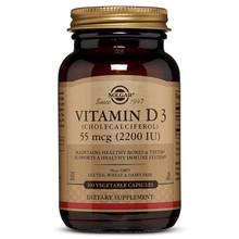 Solgar Vitamin D3 (Cholecalciferol) 55 mcg (2200 IU), 100 Veg Caps