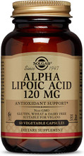 Solgar Alpha Lipoic Acid 120 mg, 60 Vegetable Capsules