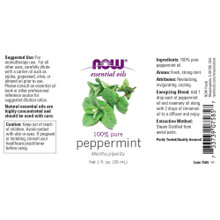 Now Essential Oils, Peppermint Oil, 100% Pure, 1 Oz