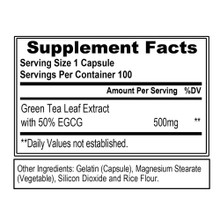 Evlution Nutrition Green Tea Leaf Extract, 100 Capsules