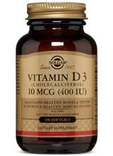 Solgar Vitamin D3 (Cholecalciferol) 10 MCG (400 IU) 100 Softgels