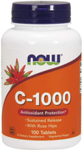 Now Vitamin C-1000 With Rose Hips - 100 Tablets