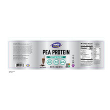 NOW Sports Nutrition, Pea Protein Powder, Creamy Chocolate, 2-Pound