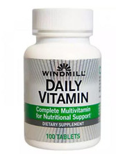 Windmill Daily Vitamin Complete Multivitamin 100 Tabs