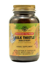 Solgar Milk Thistle Herb Extract - 60 Capsules