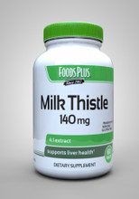 Food Plus Milk Thistle 140Mg 60Tablets