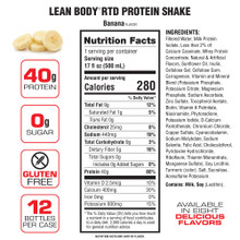 Labrada Nutrition Lean Body, RTD 17 Oz, Banana