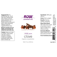 NOW Clove Oil, 100% Pure, 1 Oz