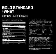 OPTIMUM NUTRITION GOLD STANDARD 100% Whey Protein Powder, Extreme Milk Chocolate, 10 Pounds