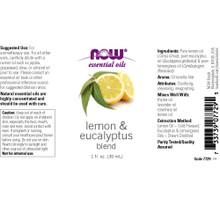 Now Essential Oils, Lemon & Eucalyptus Oil Blend, 1 Oz