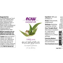 Now Essential Oils, Eucalyptus Pure Oil, 1 Oz