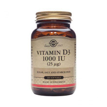 Solgar Vitamin D3 1000 IU - 100 Softgels