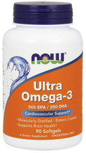 Now Food Ultra Omega-3, 90 Soft gels