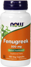 Now Supplements, Fenugreek 500 mg, 100 Capsules