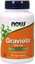 NOW Graviola 500mg, 100 Capsules