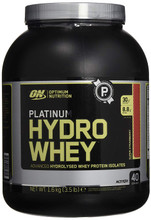OPTIMUM NUTRITION Platinum Hydrowhey Protein Powder,Supercharged Strawberry, 3.5 Lbs