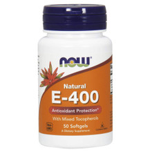 NOW Supplements, Vitamin E-400 IU, 50 Softgels