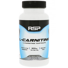 RSP Nutrition, L-Carnitine, 500 mg, 60 Capsules