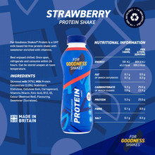 For Goodness Shakes High Protein Strawberry Shake, 475ml