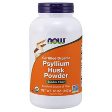 NOW Supplements, Organic Psyllium Husk Powder, 12 Oz