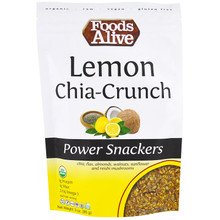 Foods Alive, Power Snackers, Organic Lemon Chia-Crunch, 3 oz