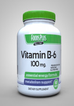 Food Plus Vitamin B6 100mg - 60 Tablets