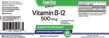 FOODS PLUS Vitamin B12 500mcg 60 Tablets