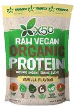 Tribeca Health X50 Raw Vegan Organic Protein Vanilla Flavor