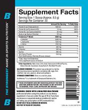 Beast Sports Nutrition – BCAA 2:1:1, Beast Punch, 30 Servings
