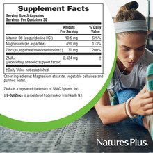NaturesPlus ZMA Rx Strength - 90 Vegetarian Capsules