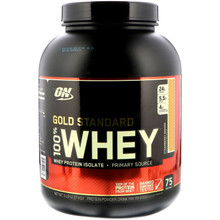 Optimum Nutrition, Gold Standard, 100% Whey, Strawberry Banana, 5 lbs
