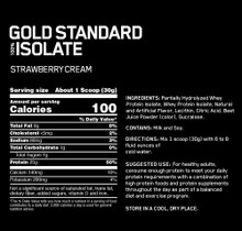 Optimum Nutrition 100% GS Isolate 5.02 Lbs Strawberry Cream