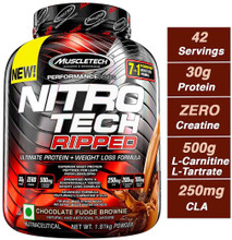 Muscle Tech Nitrotech Ripped - 4 Lbs, Chocolate Fudge Brownie