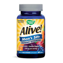 Nature's Way Alive! Men's 50+ Gummy Multi-Vitamin, 60 Gummies