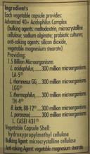 Solgar Advanced 40+ Acidophilus, 60 Capsules