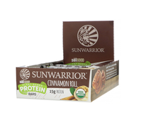 Sunwarrior cinnamon Roll Bars.