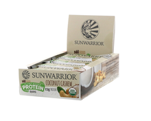 Sunwarrior Coconut Cashew Bars.