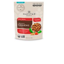 Navitas Organics, Organic Cashews, Goji Basil.