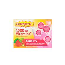 Emergen-C, Vitamin C, Flavored Fizzy Drink Mix, Raspberry, 1,000 mg, 30 Packets, 0.32 oz