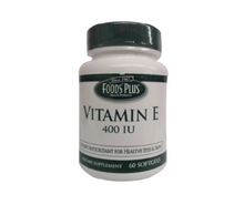 Food Plus Vitamin E 400 Iu Softgels, Dietary Supplement - 60 each.