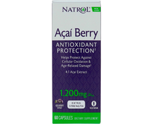 Natrol, AcaiBerry, Super Strength, 1,200 mg, 60 Capsules,