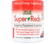 Country Farms, Super Reds, Energizing Polyphenol Superfood, Berry Flavor, 7.1 oz (200 g).