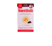 1+1 offer Coromega Women's Health fish oil Orange Chocolate Squeeze Shots 90 Packets (