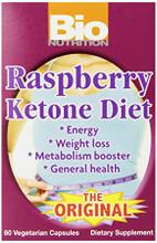 1+1 Offer Bio Nutrition 100% Natural Raspberry Ketone - 60 Vegetable Capsules