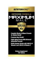 NutritionWorks Maximum Male Multi Vitamins for Men - 100 Capsules