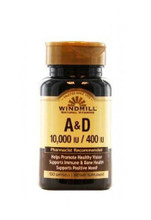 Windmill Vitamin A & D - 100 Softgels
