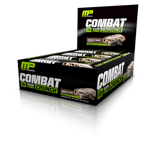 MusclePharm Combat Crunch Bar - Cookies and Cream (12 bars in a pack)